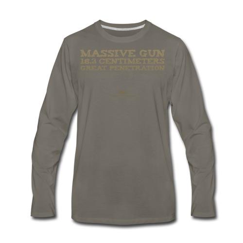 Massive Gun - Men's Premium Long Sleeve T-Shirt