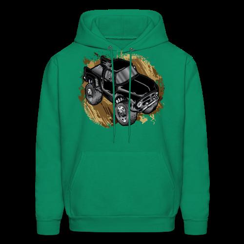 Old Black Mudder Monster Truck - Men's Hoodie