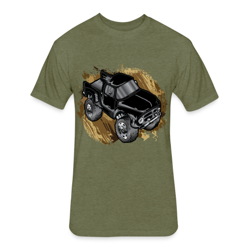 Old Black Mudder Monster Truck - Fitted Cotton/Poly T-Shirt by Next Level