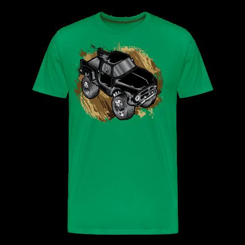 Old Black Mudder Monster Truck - Men's Premium T-Shirt