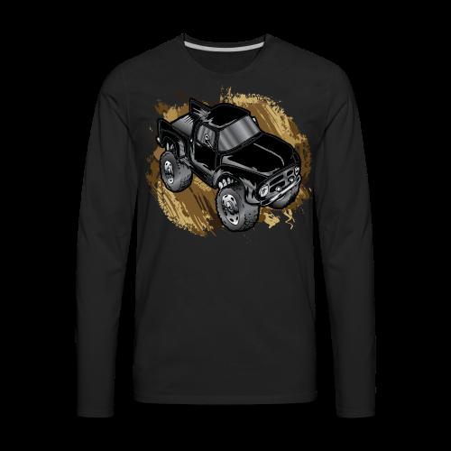 Old Black Mudder Monster Truck - Men's Premium Long Sleeve T-Shirt