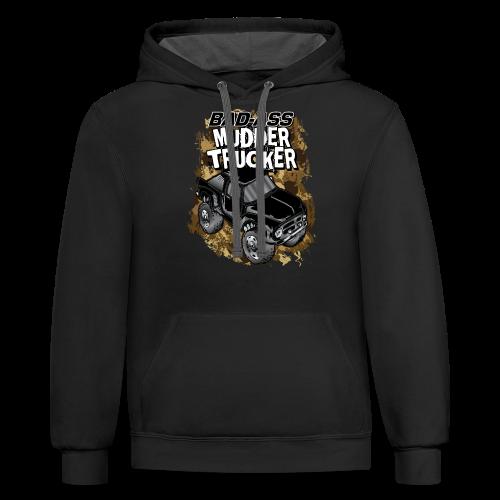 Bad-Ass Mudder Trucker - Contrast Hoodie