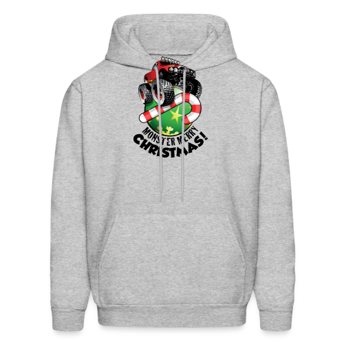 Men's Hoodie - Have a monster great christmas with this awesome monster truck design from Off-Road Styles. Complete with candy-cane and ornament.