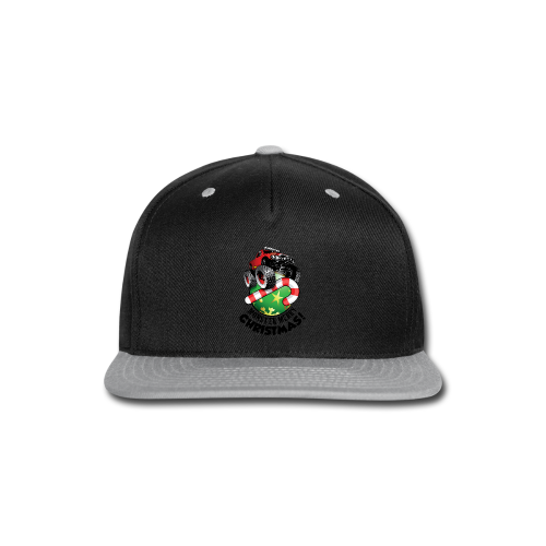 Snap-back Baseball Cap - Have a monster great christmas with this awesome monster truck design from Off-Road Styles. Complete with candy-cane and ornament.