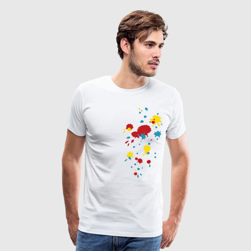 Color splash splatter paintball, game, graffiti,  T-Shirts - Men's Premium T-Shirt