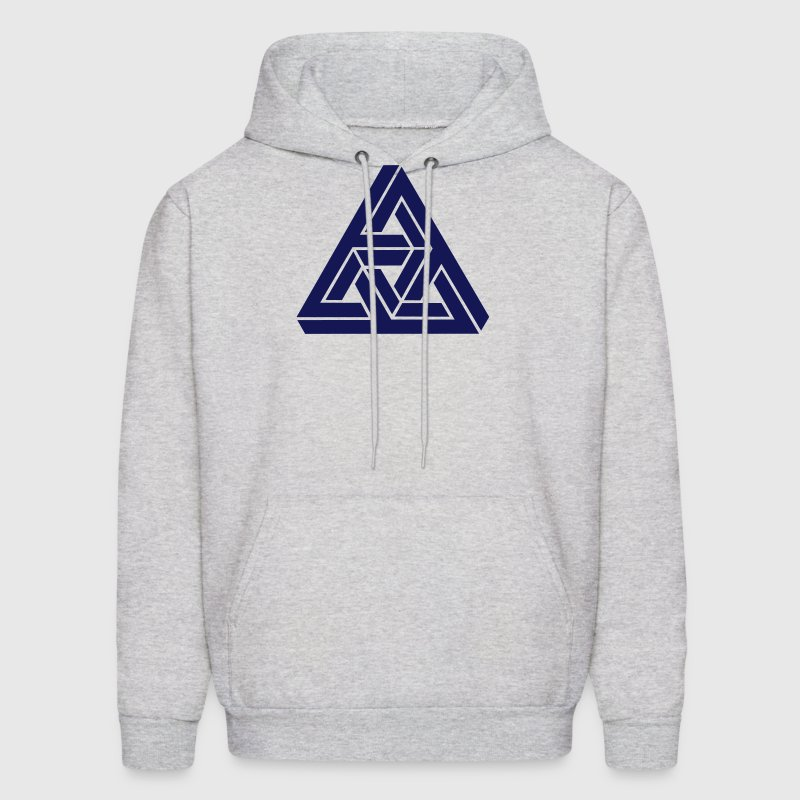 Impossible triangle optical illusion, Escher,  Hoodies - Men's Hoodie