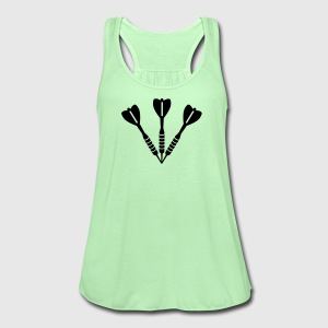Darts Women's T-Shirts - Women's Flowy Tank Top by Bella