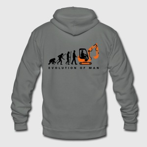 evolution_baggerfahrer_122013_a_2c T-Shirts - Unisex Fleece Zip Hoodie by American Apparel