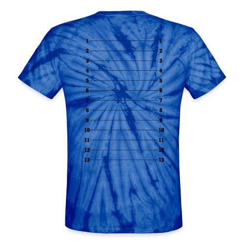 Hair Length Check Tee - Black Numbers - Unisex Tie Dye T-Shirt