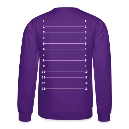 Hair Length Check Tee - White Numbers - Crewneck Sweatshirt
