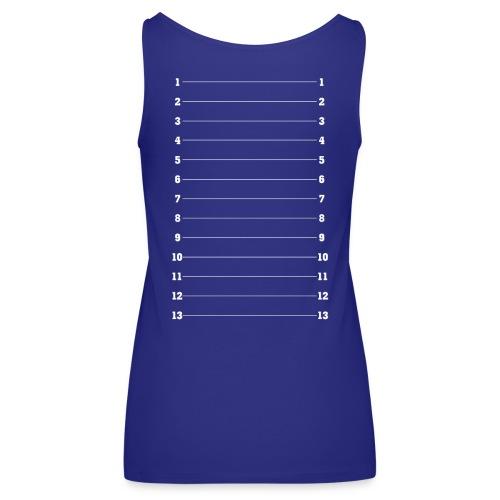 Hair Length Check Tee - White Numbers - Women's Premium Tank Top