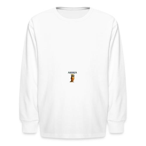 America, Duck Yeah! Mug - Kids' Long Sleeve T-Shirt