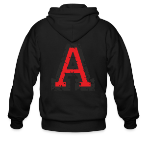 Letter A T-Shirt (Men) Black/Red - Men's Zip Hoodie