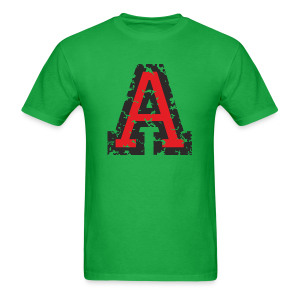 Letter A T-Shirt (Men) Black/Red - Men's T-Shirt