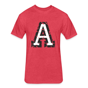 Letter A T-Shirt (Men) Black/White - Fitted Cotton/Poly T-Shirt by Next Level