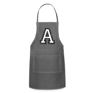 Letter A T-Shirt (Men) Black/White - Adjustable Apron