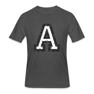Letter A T-Shirt (Men) Black/White - Men's 50/50 T-Shirt