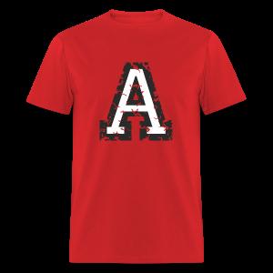 Letter A T-Shirt (Men) Black/White - Men's T-Shirt