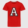 Letter A T-Shirt (Kids Green) Black/White - Kids' Premium T-Shirt
