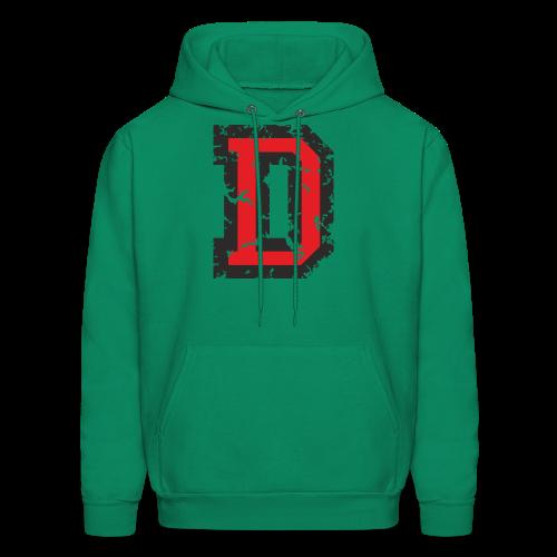 Letter D T-Shirt (Men) Black/Red - Men's Hoodie