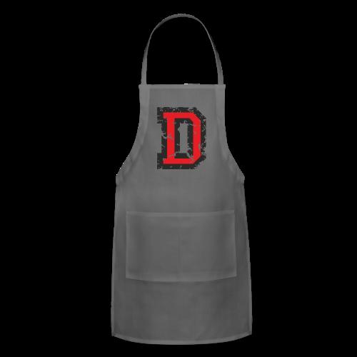 Letter D T-Shirt (Men) Black/Red - Adjustable Apron