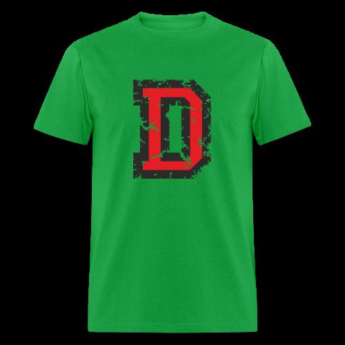 Letter D T-Shirt (Men) Black/Red - Men's T-Shirt