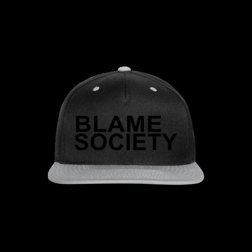 BLAME SOCIETY SHIRT - Snap-back Baseball Cap