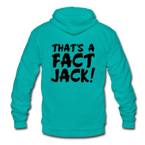 That's A Fact Jack! - Unisex Fleece Zip Hoodie by American Apparel