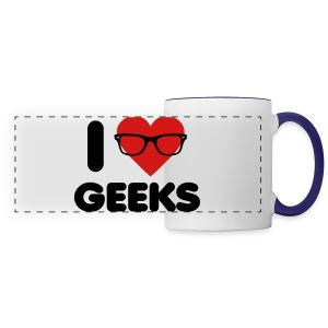 I Heart Geeks - Panoramic Mug