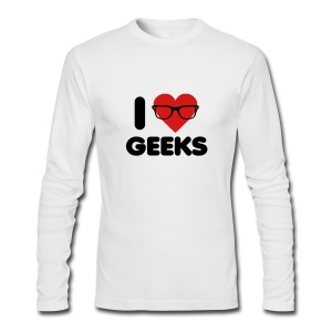I Heart Geeks - Men's Long Sleeve T-Shirt by Next Level