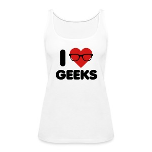 I Heart Geeks - Women's Premium Tank Top
