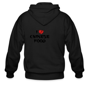I Love Chinese Food - Men's Zip Hoodie