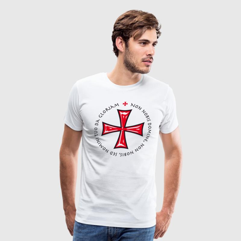 Crusaders Cross Shield Crown King heraldic animal  - Men's Premium T-Shirt