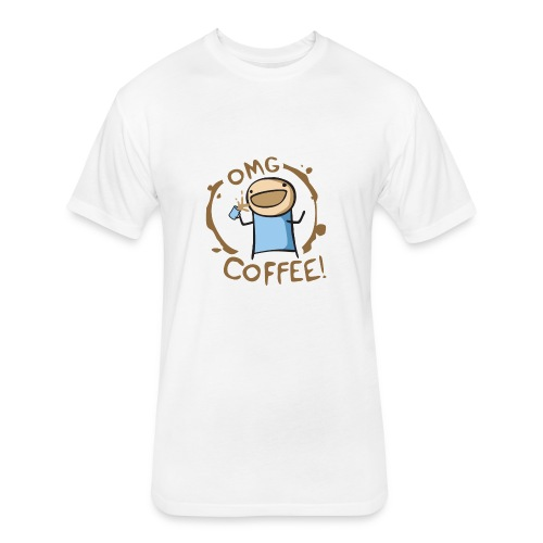 OMG COFFEE! Travel Mug - Fitted Cotton/Poly T-Shirt by Next Level