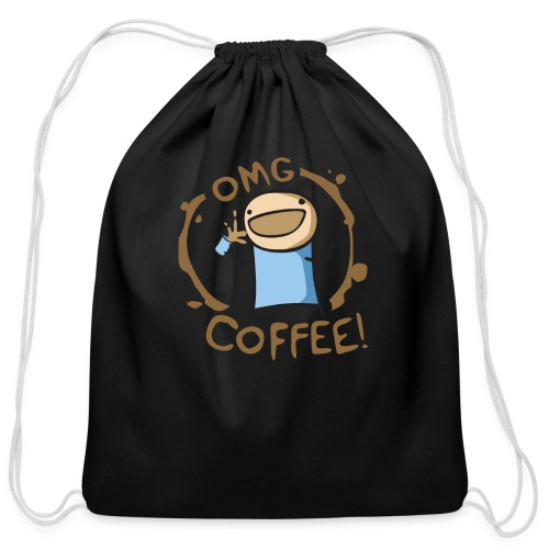 OMG COFFEE! Travel Mug - Cotton Drawstring Bag