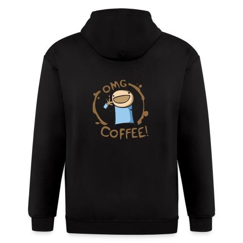 OMG COFFEE! Travel Mug - Men's Zip Hoodie