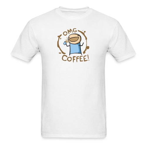 OMG COFFEE! Travel Mug - Men's T-Shirt