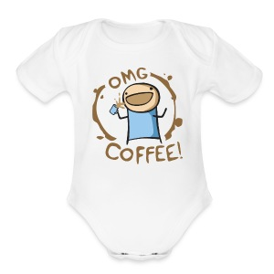 OMG COFFEE! Travel Mug - Short Sleeve Baby Bodysuit