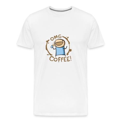 OMG COFFEE! Travel Mug - Men's Premium T-Shirt