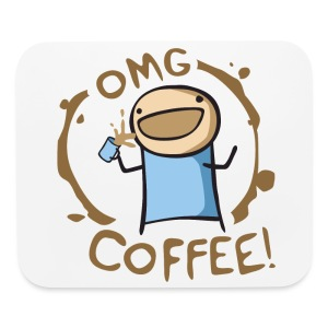 OMG COFFEE! Travel Mug - Mouse pad Horizontal