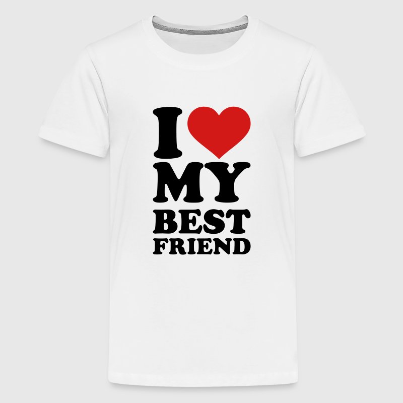 I love my best Friend Kids' Shirts - Kids' Premium T-Shirt