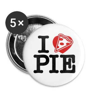 I Love Pizza Pie - Small Buttons