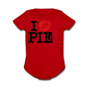I Love Pizza Pie - Short Sleeve Baby Bodysuit