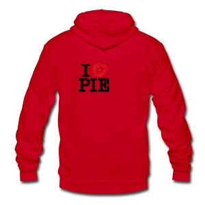 I Love Pizza Pie - Unisex Fleece Zip Hoodie by American Apparel