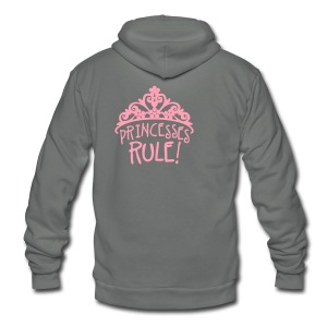 Princesses Rule - Unisex Fleece Zip Hoodie by American Apparel