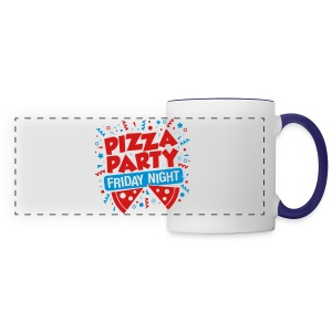 Pizza Party Friday Night - Panoramic Mug
