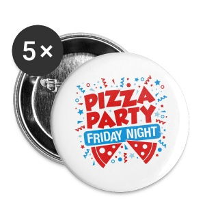 Pizza Party Friday Night - Small Buttons