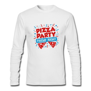 Pizza Party Friday Night - Men's Long Sleeve T-Shirt by Next Level