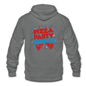 Pizza Party Friday Night - Unisex Fleece Zip Hoodie by American Apparel