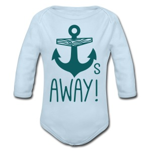 Anchors Away - Long Sleeve Baby Bodysuit
